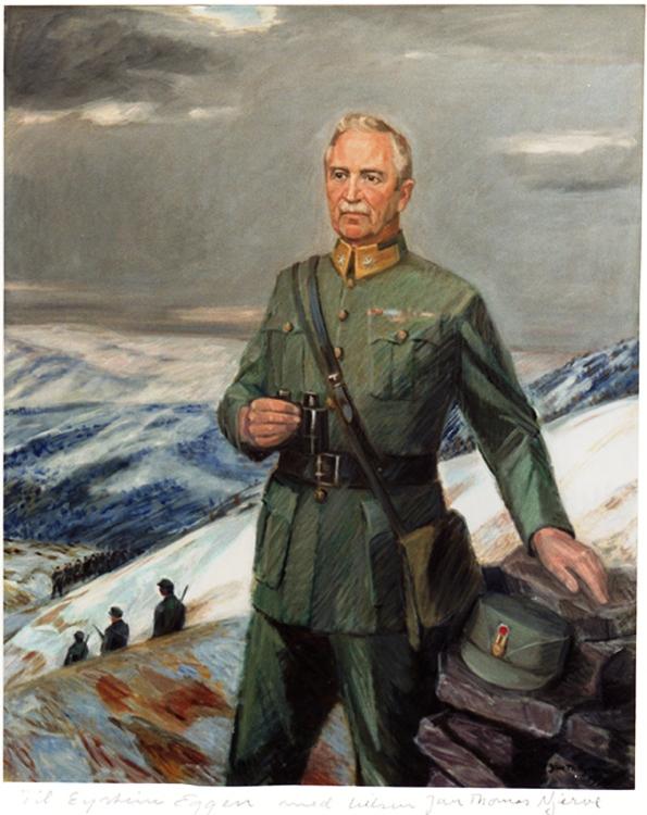 Carl Gustav Fleischer malt av Thomas Njerve Gernisjonskirken Akerhusfestning