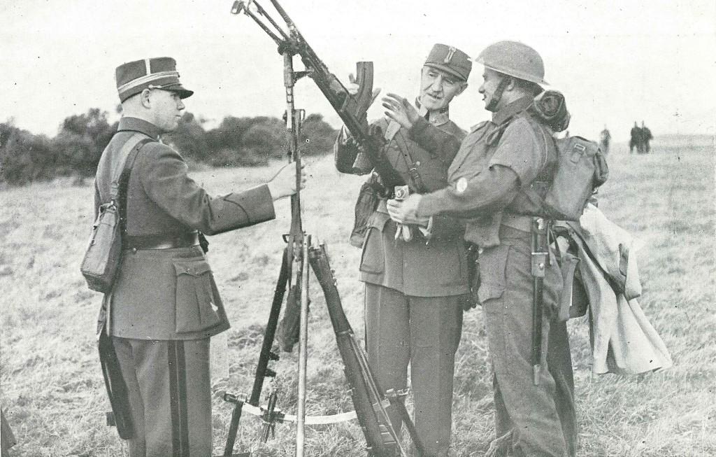 Fleischer inspiserer Bengun Skottland 1940