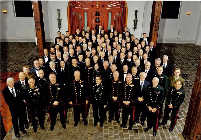 Kavaleriklubben ved markeringen av 125 års jubileet i 2007 på Akershus festning