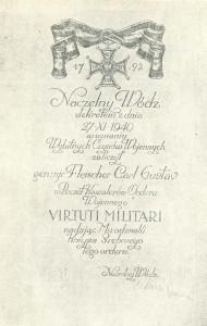 Virtuti_Militari_Diplom_Fleischer