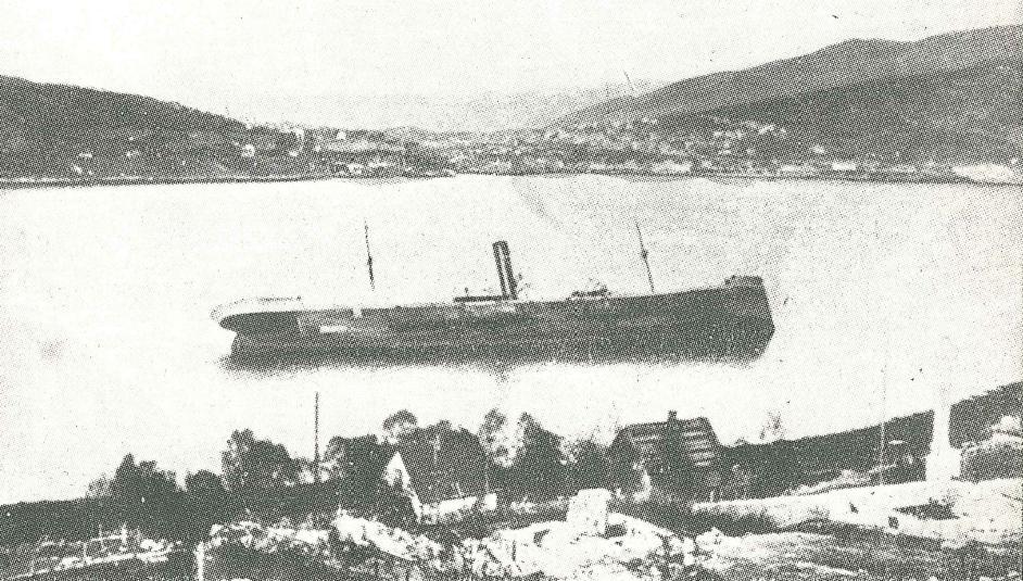 Vraket av et tysk skip ved Ankenes